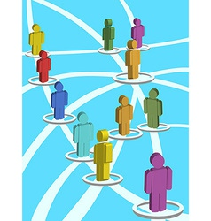 3d people in the social network vector
