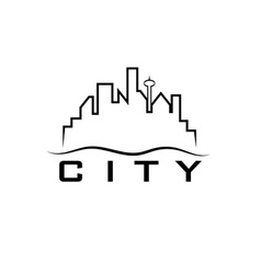 City skyline design template vector