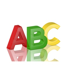 colorful transparent alphabet abc vector image