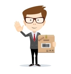 Fast delivery of mail and parcels vector