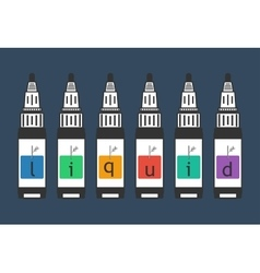 Liquid for electronic cigarette vaping vector