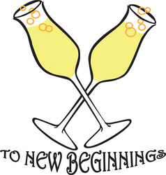 To new beginnings vector