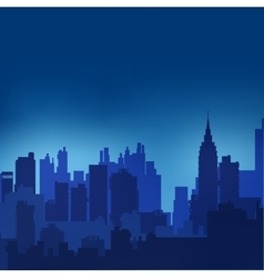 Landscape urban silhouette vector