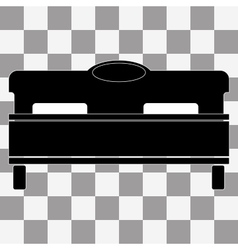 Black bed icon on transparent vector