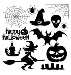 A set of halloween elements vector