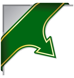abstract web arrow in green color vector image vector image