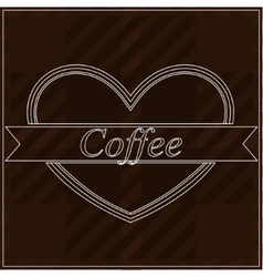 Background with word coffee vector