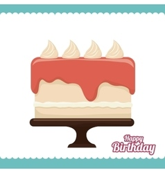 birthday cake dessert vector image vector image