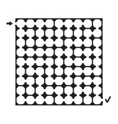 black square maze vector image