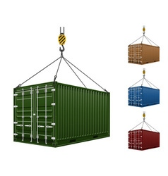 cargo container 107 vector image vector image