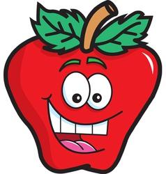 Cartoon Happy Apple vector image vector image