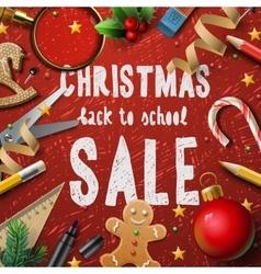 Christmas school sale vector