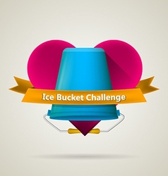 Conceptual for ice bucket challenge vector