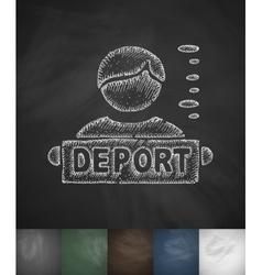 Deport man icon hand drawn vector