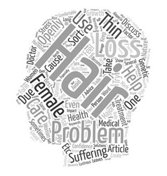Hair loss help text background wordcloud concept vector