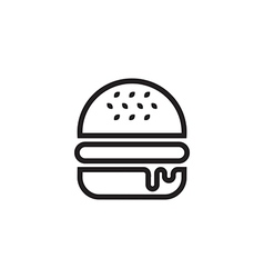 Hamburger Icon Outlined vector image