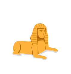 isolated sphinx in flat style vector image vector image
