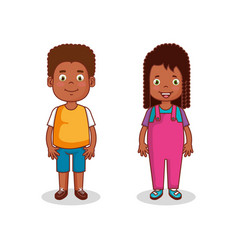 little kids group avatars characters vector image