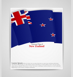 National flag brochure of new zealand vector