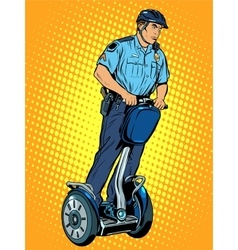 Police patrol electric scooter vector