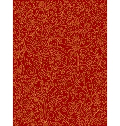 Red ornate pattern vector image