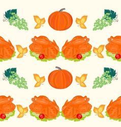 Seamless texture celebratory food turkey vector