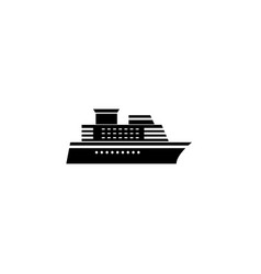 ship and cruise solid icon navigation vector image