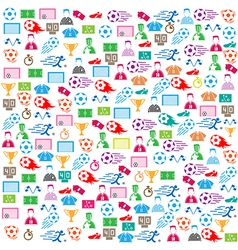 soccer background icon color eps10 vector image vector image