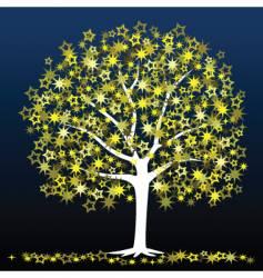 star tree vector image vector image