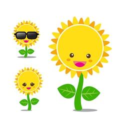 Sunflower 001 vector image