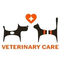Symbol of veterinary care vector