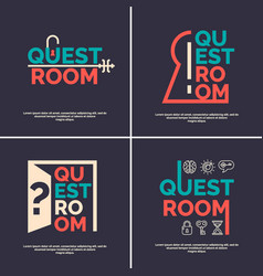 The logo for the quest room vector