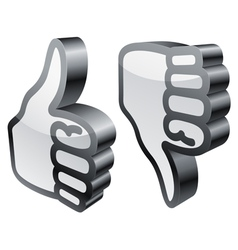 thumbs up and down vector image vector image