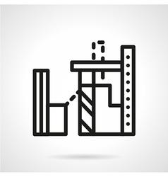 Tobacco factory line icon vector