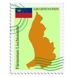 mail to-from Liechtenstein vector image