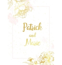 Nice wedding invitation vector image