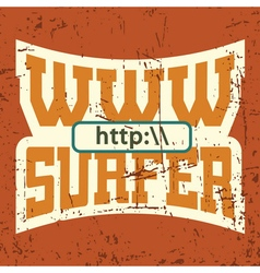 Www surfer t shirt typography graphics vector