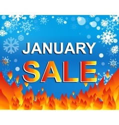 Big winter sale poster with january sale text vector