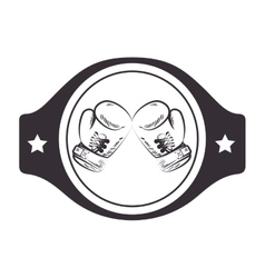 boxing belt isolated icon vector image