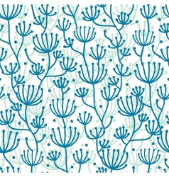 Lineart texture plants seamless pattern background vector