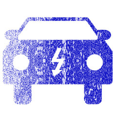 electric car textured icon vector image