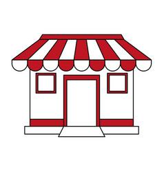 color silhouette cartoon facade shop store vector image