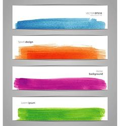 Watercolor design banners vector