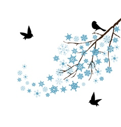 Snow branch vector