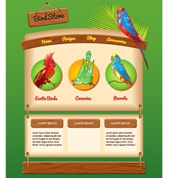 Nature template for bird store vector