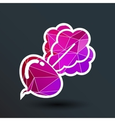 Radish abstract isolated logo beetroot food vector
