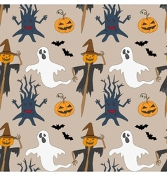 Seamless pattern with monsters print for vector