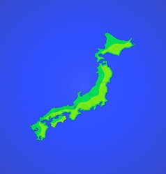 Flat abstract japan islands icon vector
