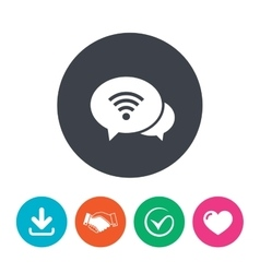Chat speech bubbles wifi sign wi-fi symbol vector