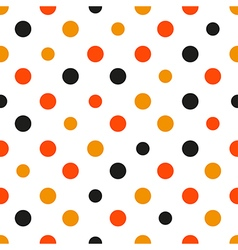 Orange polka dot white background vector